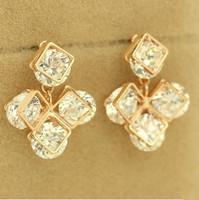 B320 Direct Selling Trendy Semi-precious Zinc Alloy Water Drop Fashion Shiny Geometry Drop Earrings for Women New 2014