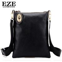 NEW 2014 Summer Men's bags Fashion Handbag Men Messenger Bags Genuine Leather Crossbody Briefcase Black and Brown