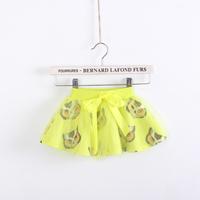 Female child owl print 100% cotton gauze bust skirt short child children's clothing