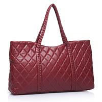 Hot Sale Brand Luxury Vintage Women's Genuine Lambskin Shoulder Bag Handbag Classic Black Big Capacity Plaid Should Bag Tote