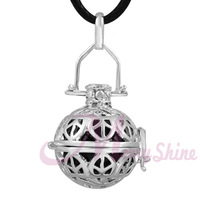 Silver cage Peaceful Musical sound harmony Mexican bola pendant maternity Women Prengancy bola pendant belly Necklace H77A08