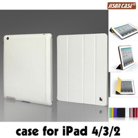 hot!Smart Case For iPad 4 3 2 Cover Stand Tablet Designer Ultra thin Leather Cover for ipad leather case white color wholesale