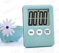 10pcs fashion Kitchen timer small cute timer large screen reminder w/magnet high quality refrigerator stick timers multicolor