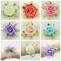 Bride bridesmaid corsage bride wrist flowers for wedding European style wedding party guest wrist flowers A04