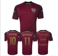 A+++ Russian Best Thailand Top Brand Russia Fan Version Kit Brasil World Cup 2014 New Futbol Jersey Unifrom Futebol Shirt