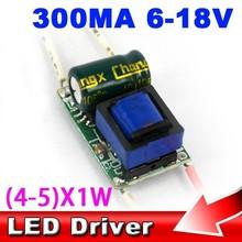 5pcs AC 85-265V 4-5 X 1W DC 18V 4W 5W LED Bulbs Lamp Light Driver E27 GU10 E14 B22 Power Supply Lighting Transformer(China (Mainland))