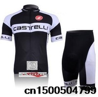 Hot Sale!!! Castelli short sleeve cycling wear clothes short sleeve bicycle/bike/riding jerseys+pants/S-XXXL