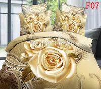 Wedding Rose Queen Comforter 3D Oil Printed Bedding Set  sets Cotton Bedcover Bed Sheet Duvet Cover Home Textile Quilt Freely