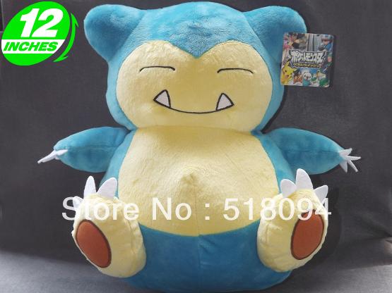 "Japanese Anime Cartoon Pokemon Snorlax Plush Toy Plush Doll Figure Toy 12"" Chritmas Brithday Gift Free Shipping(China (Mainland))"