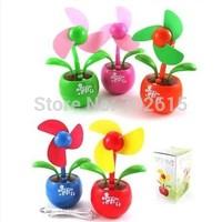New arrivral retail creative mini USB & battery fans computer mute flowers air fan top quality multi-color