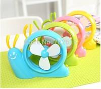 New arrivral retail children creative mini USB & battery fans computer mute snail air fan top quality 3 colors