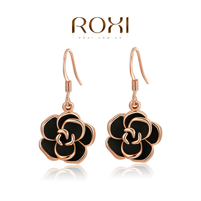 ROXI fashion new arrival, genuine Austrian crystal,fashion rose Earrings,women trendy earringsChrismas/Birthday gift 2020001310(China (Mainland))