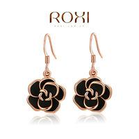 ROXI fashion new arrival, genuine  Austrian crystal,fashion rose Earrings,women trendy earringsChrismas/Birthday gift 2020001310