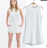 2015 summer new piece fashion casual shorts women slim chiffon white lady shorts with t shirt