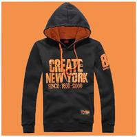 Hot sale 2014 Men's Cotton Cardigan NEW YORK print Hoodies coat, Men's slim fit sport Hoodie free shipping size S-XXXL