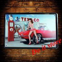 [ Do it ] Metal sign TEXACO Wholesale Vintage Craft PUB Decor 20*30 CM AB-136