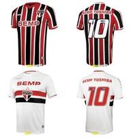 A+++ Top SAINT PAUL Sao Paulo St Paul Thialand 2014 Brazil Club Home Soccer Jersey Sports Football Wear T Shirt Futbol Kit