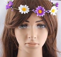 Bohemian Bridal Jewelry Sunflower Head Wreath Floral Flower Hair Garland Crown Head Band ZH15