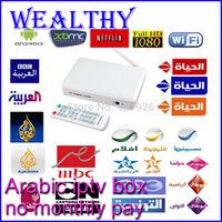 Free Remote Control Arabic IPTV Box, 500 Plus IPTV Arabic Channel TV Box, Android 4.2 WiFi HDMI Smart Android Mini PC TV Box