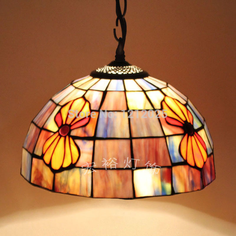 seashell pendant lamp dinning room stained glass lampshade hanging. Black Bedroom Furniture Sets. Home Design Ideas