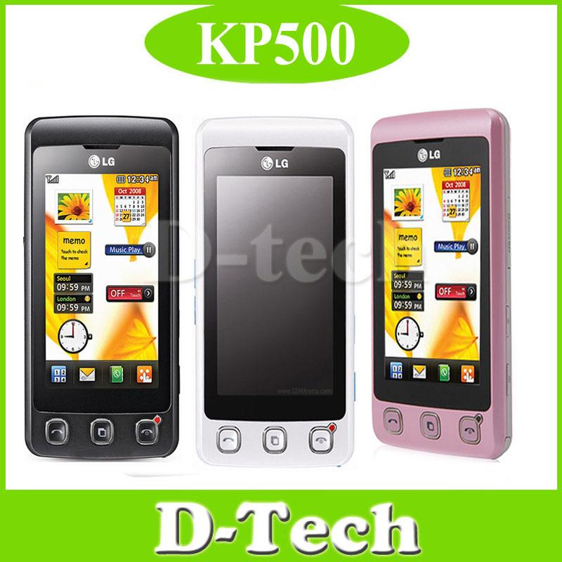 "KP500 mobile phone Original LG KP500 Unlocked Mobile Phone 3.0"" Touch Screen 3.15MP Camera FM Radio Free Shipping(China (Mainland))"