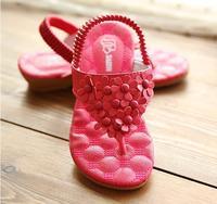 Hot selling!2014 promotion children's sandals for girls shoes kids pantufa kids flower flip flops beach sandal summer  size26-36