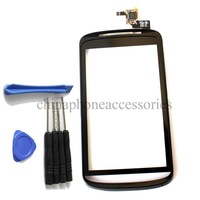 Replacement Touch Screen Digitizer Glass + Frame Front Cover For ZTE Skate V960 repair part+ tools