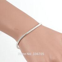 2014New Arrival Free Shipping 10pcs/lotLady's 12mm Loving Heart Clasp Silver Bracelet25342#