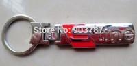 MIX order 10pcs  metal chrome Sline S Line 3D Key key  Rings  car badge emblem