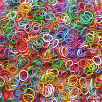 5Packs/Lot Rubber Loom Bands Children DIY Braided Bands (1Pack=600pcs Bands+24pcs Hooks) 30 COLORS FOR CHOICE Free Shipping