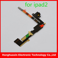 1pcs/lot Headphone Audio Jack Flex CableI wifi version for ipad 2,for ipad 3 both GM Earphone wiring Replacement free shipping
