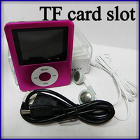 3rd gen mp4 player TF card slot portable mp3 mp4 player card reader fm radio mp4 player with accessories 30pcs/lot
