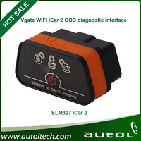 HOT Sale!!! 2014 New arrived Vgate iCar 2 WIFI OBD2 ELM327 Self-diagnosis for iPhone Ipad 6 color