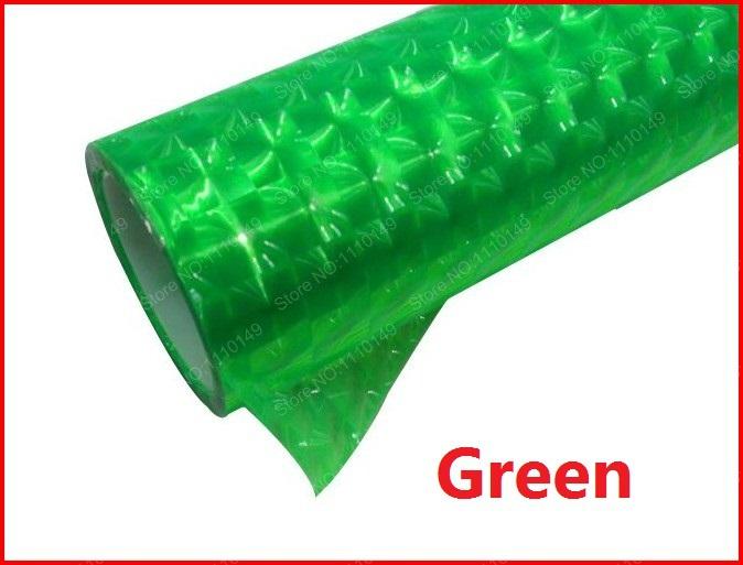Green 30cm x 2m 3D Cat Eye HeadLight Taillight Tint Vinyl Film ,HeadLight Taillight Car Sticker - 12 color Free Shipping(China (Mainland))