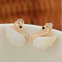 2014 Seconds Kill New Trendy Women Crystal Zinc Alloy Water Drop B349 Fashion Little Swan High-end Earrings Ladies Jewelry