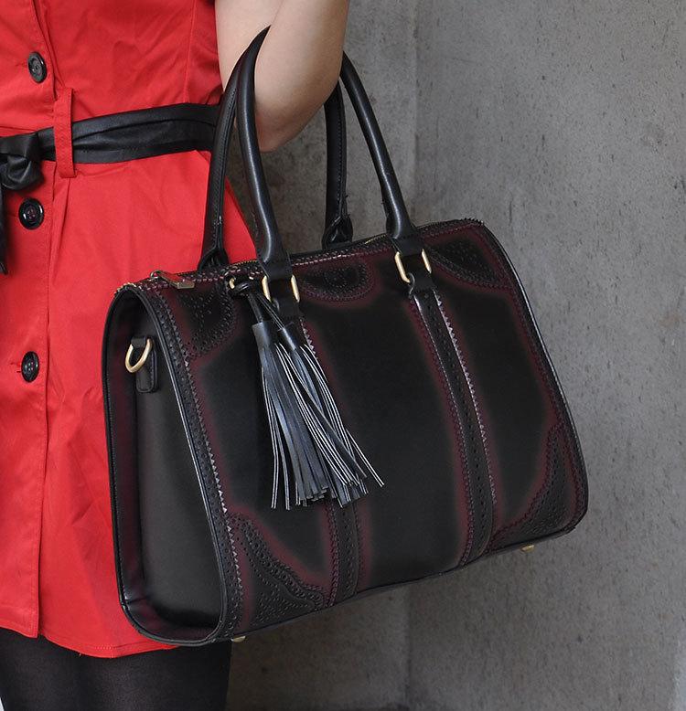veevan 2014 vintage quente boston moda pu mulheres bolsa de couro designer tassel corresponder alta qualidade mulheres wfchb00623 totes(China (Mainland))