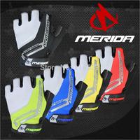 2014 MERIDA Bike Riding gloves Half finger gloves Silicone Non-slip gloves Electric Car Racing gloves Bike gloves half finger