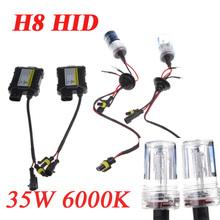 H8 35W 6000K 9-16V Xenon HID Kit Xenon Conversion Kit Car Light Source Single Beam Slim Ballast Headlamps Foglight Bulbs(China (Mainland))