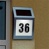 Solar door number light lamps Stainless steel outdoor wall light solar lamps outdoor lighting poste solar lamp light sensor
