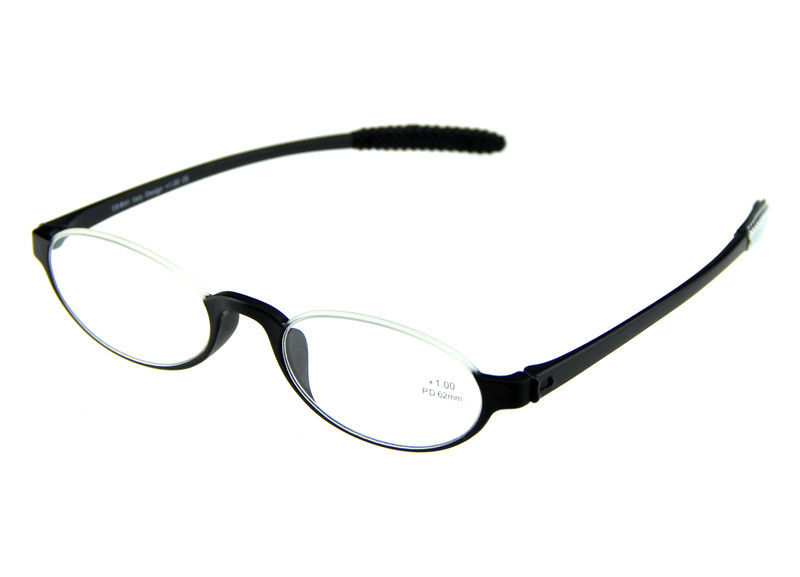 Mens/Womans Half TR90 Frame Ellipse Reading Glasses ...