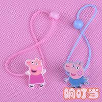 baby toy peppa hair rope hair ring headwear, hair accessories head flower girl child