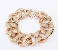 B2 bracelets & bangles 2014 new Fashion Women Gift Chain Gold Chunky Bracelet For Women  Men Jewelry Bracelets Free shipping