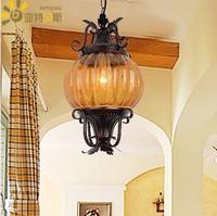 American fashion iron entrance nostalgic single head pendant light  staircase corridor lampb88601