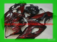 Wholesale - Fairins For 2005 2006 SUZUKI GSX-R1000 K5 GSXR1000 05 06 GSXR 1000 fairings kit Red flames black 5KB