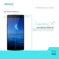 NILLKIN Amazing H+ Nanometer Anti-Explosion Tempered Glass Screen Protector For OPPO Find 7 (X9007)+Retail Box+Free Shipping