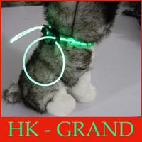 2 pcs/lot DIY Pet Fiber LED flashing Lighted Leads 80cm diy Dog Collar One Size Mix color