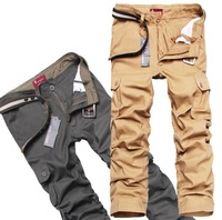 2014 New skating pants Fashion Cargo Pants Baggy Trousers Outdoor Sports overall Pants pluse size 36 38 Wholesale black khaki