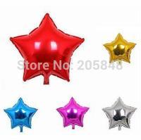 50pcs Wholesale 5Inch 12cm Pentagram Star Shape Glossy Foil Decal Balloons Ballon Party Decoration Birthday Wedding Xmas Stock
