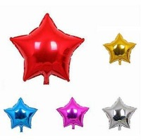 50pcs Wholesale 5Inch 12cm Pentagram Star Shape Glossy Foil Decal Balloons Ballon Party Decoration Birthday Wedding Xmas Stock