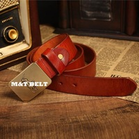 100% Genuine Leather Luxury Designer Brand Name Buckle Belts For Men Vintage Jeans Mens Belt Man Strap Cinto Ceinture MBT0179